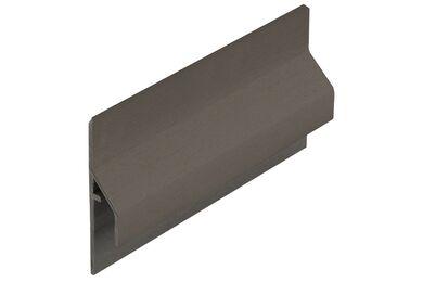 KERALIT 2843 Dakrand Trim/kraal Aansluitprofiel 10mm Kwartsgrijs Classic Nerf 6000mm