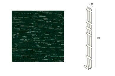 KERALIT 2848 Dakrand Tussenstuk 350mm Donkergroen Classic Nerf