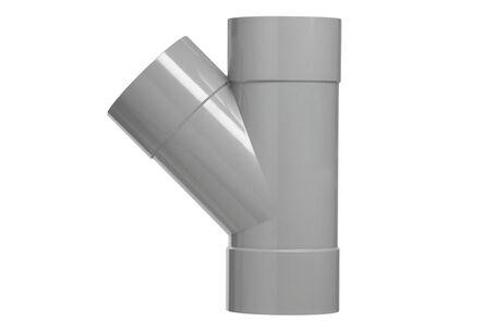 PVC T-stuk 45° 3x lijmmof 50mm