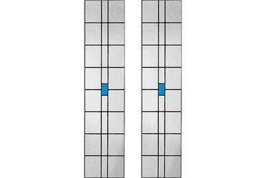 WEEKAMP Glas In Lood 3 Glasset T.B.V. WK6542 En WK6552 930x2315mm