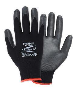 handschoen pu gecoat zwart/grijs maat 10