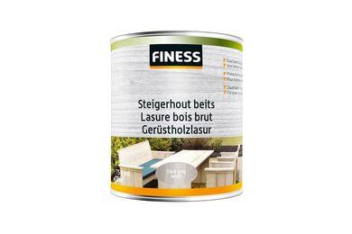 FINESS Steigerhoutbeits Dark grey-wash Binnen/Buiten 750ml