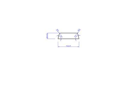 hardhout koplat schuin gegrond ko2 lvl 16x45x4900