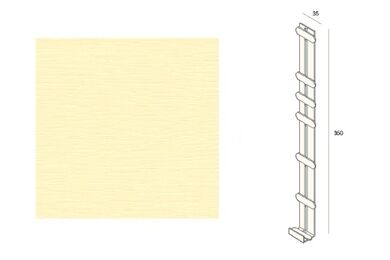 KERALIT 2848 Dakrand Tussenstuk 350mm Licht Ivoor Classic Nerf