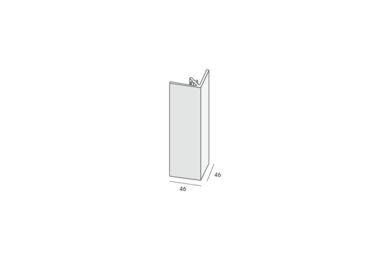 KERALIT 2812 Uitwendig Rechthoekprofiel Zwartgrijs Classic Nerf 46x46x4000mm