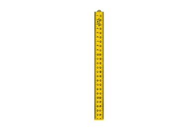 SCHUIL Duimstok Kunststof Geel 1M 4Delig