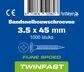 pontmeyer bandsnelbouwschroeven twinfast fijne spoed 3,5x45mm 1000st
