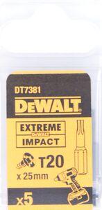 dewalt torx impact 25mm t20 dt7381-qz (set van 5 stuks)