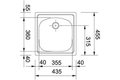 FRANKE Opbouwspoelbak ETX610