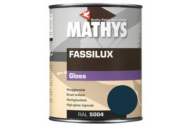 MATHYS Fassilux Gloss Donkerblauw Ral 5004 1Ltr