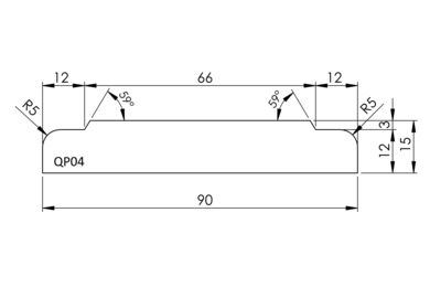 Architraaf QP04 Q-Pine Grenen FSC 16x90x4800mm