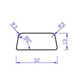 meranti glaslat e8 80mu gegrond fsc 100% 13x32x4000