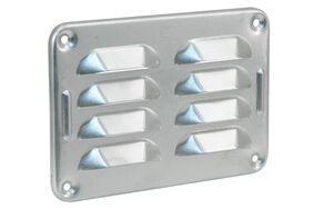 schoepenrooster aluminium 130x90mm naturel
