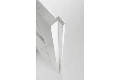 SKANTRAE Aanslaglat Recht Wit 10x45x2500mm