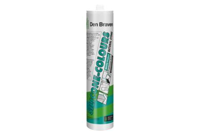 DEN BRAVEN Silicone COLOURS + Natural Stone Antraciet 310ml