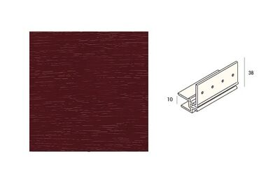KERALIT 2867 Dakrandmontageprofiel 10mm Wijnrood Classic Nerf 6000mm
