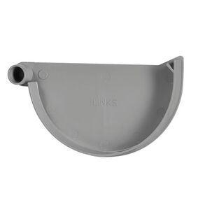 kraalgoot einddeksel links klem 125mm grijs