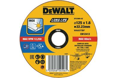 DEWALT DT43906-QZ Slijpschijf INOX 125x1,6mm
