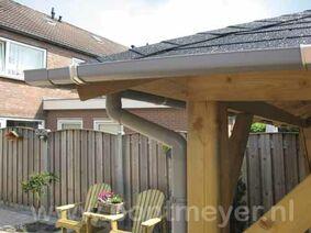blokhut / prieel minidakgootset 65mm compleet voor 4-kant dak 4m