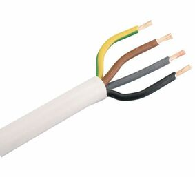 kabel vmvl 4x2,5mm² wit 3m
