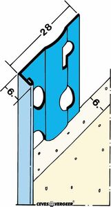 stucstopprofiel 1216h verzinkt staal 2600mm