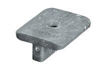 upm piazza wingclips kl.+schroef rvs silver teak 100%pefc 100st