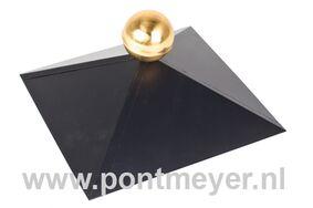 afdekkap zwart voor vierkante daken (zonder messing bol)
