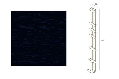 KERALIT 2848 Dakrand Tussenstuk 350mm Mon.Blauw Classic Nerf