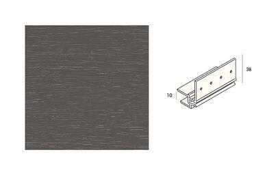 KERALIT 2867 Dakrandmontageprofiel 10mm Kwartsgrijs Classic Nerf 6000mm