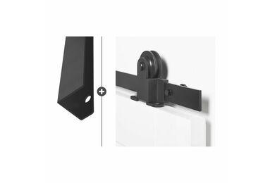 SKANTRAE Hang- en Sluitwerkpakket HSP554 Schuifdeurbeslag Foxtrot Vernal Zwart T.B.V. SSL Series