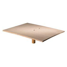 melkmeisje raapbord hout +greep 500x400mm mm392540