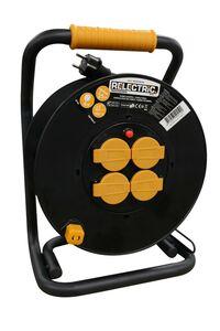 relectric pro kabelhaspel 4-Voudig IP44 3000w 230v 3x1,5mm2 25m