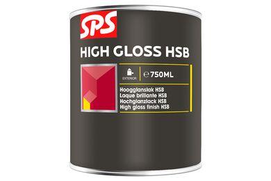 SPS HSB Lakverf Hoogglans 9005 Gitzwart 750ml