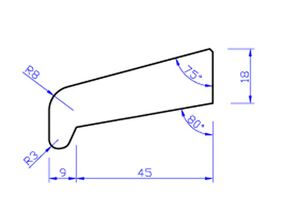 Meranti glaslat gevingerlast n35 80mu gegrond  18x50x4000