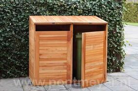 hardhouten containerberging dubbel 1500x750x1350