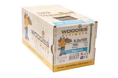 WOODIES Ultimate Schroef Verzonken Kop Torx T30 6,0x160/70mm Verzinkt