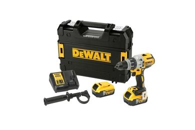 DEWALT DCD996P2-QW XR Klop/Schroefmachine Brushles 18V XR 2x5,0AH + Koffer