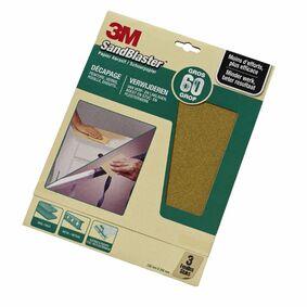 3m schuurvel sandblaster p60 groen (set van 3 stuks)