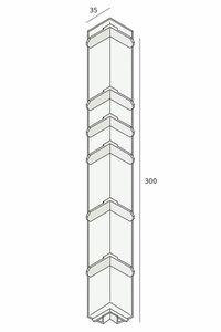 keralit hoekstuk 2847 uitwendig grijs 7001 350mm