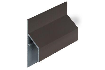 keralit aansluitprofiel 2810 trim/kraal pure earthbrown 6000mm