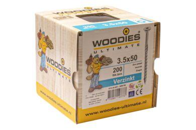 WOODIES Ultimate Schroef Verzonken Kop Torx T15 3,5x50/30mm Verzinkt ( 200 Stuks )