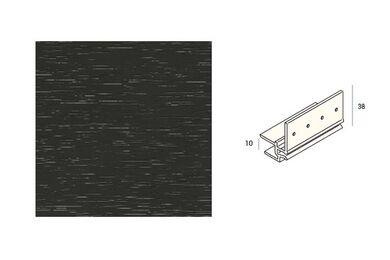 KERALIT 2867 Dakrandmontageprofiel 10mm Antraciet Classic Nerf 6000mm