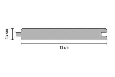 Accoya Vellingdeel Geschaafd FSC 19x145x4800mm
