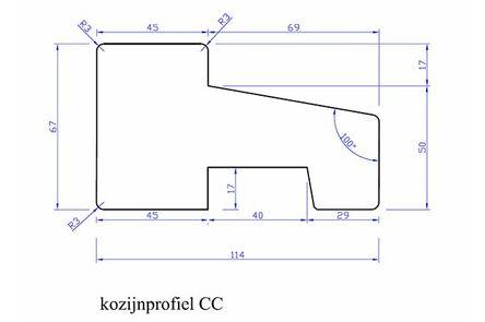 hardhout kozijnprofiel cc 67x114x3050