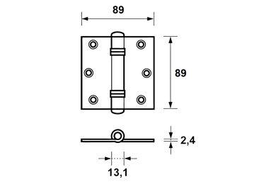 AXA Venelite Scharnier 1137-25-23E 89x89mm Verzinkt