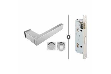 SKANTRAE Hang- en Sluitwerkpakket HSP843 WC Slot Lenox RVS T.B.V. SSL Series