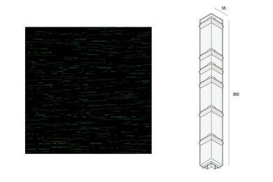 KERALIT Dakrand Uitwendig Hoekstuk 350mm Monumentengroen Classic Nerf