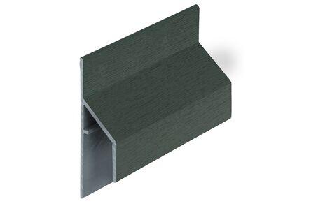 keralit aansluitprofiel 2810 trim/kraal classic donkergroen 6009 6000mm