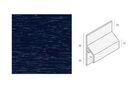 KERALIT Trimkraal Aansluitprofiel 10mm Staalblauw RAL 5011 Classic Nerf