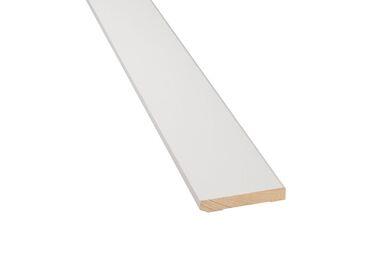 Q-Pine Grenen Plint Recht wit Afgelakt FSC 12x70x4800mm